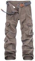 OCHENTA Men's Outdoor Loose Casual Multi Pocket Cargo Pants