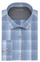 Calvin Klein Micro Grid Plaid Dress Shirt