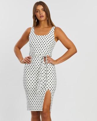 Atmos & Here Charlotte Spot Midi Dress