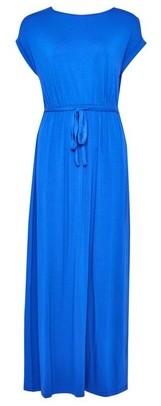 Dorothy Perkins Womens Dp Petite Cobalt Jersey Maxi Dress
