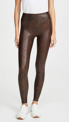 Spanx Faux Leather Snakeskin Leggings