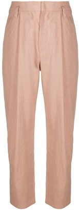 Brunello Cucinelli High-Waisted Pleat Detail Trousers