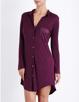 Hanro Long-sleeved jersey and stretch-silk nightshirt