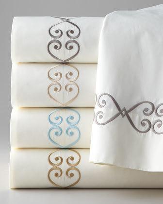 """Jane Wilner Designs Striped Silk Neckroll Sham, 6"""" x 16"""""""