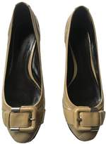 Burberry Beige Patent leather Ballet flats