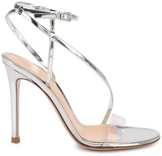 Gianvito Rossi silver strappy sandals