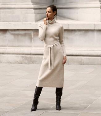 Reiss Kara - Knitted Bodycon Dress in Neutral