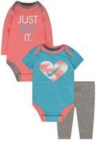 Nike Baby Girl 3-pc. Graphic Bodysuits & Pants Set