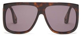 Gucci Aviator Square Acetate Sunglasses - Mens - Tortoiseshell