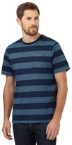Maine New England Navy Striped Print T-shirt