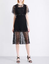 Sandro Fit-and-flare floral lace dress