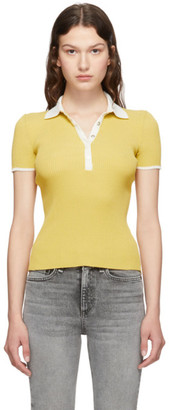 Rag & Bone Yellow Libby Polo
