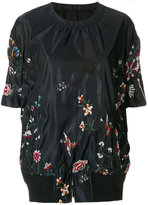 Sacai embroidered floral shell sweatshirt