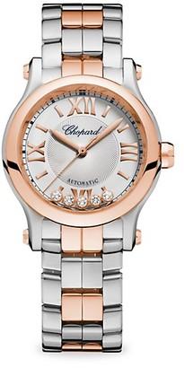 Chopard Happy Sport 18K Rose Gold & Stainless Steel Bracelet Watch