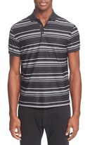 Z Zegna Multistripe Mercerized Polo