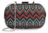Franchi Capelli Woven Pattern Convertible Clutch