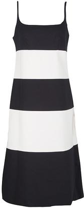 Marc Jacobs Monochrome Colorblock Cotton Mohair Blend Sleeveless Dress S