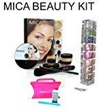 "Mica Beauty Mineral Makeup Deluxe Kit Color: Tan +8 Stack Eye Shadow Shimmer Ccolor :""A-viva Brown Eyes""+ A-viva Nail Kit"