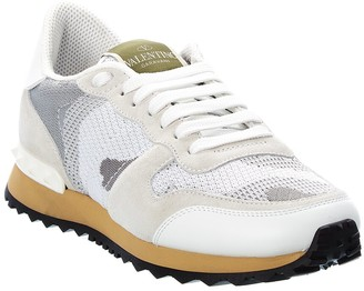 Valentino Rockrunner Suede Sneaker
