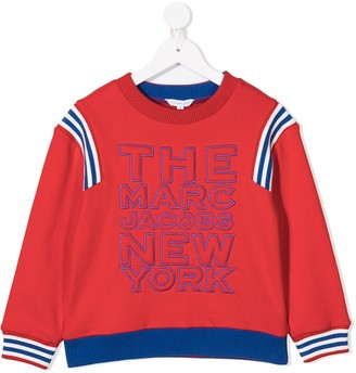 Little Marc Jacobs Striped-Trim Cotton Sweatshirt