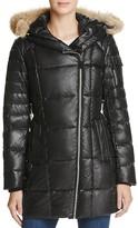 Andrew Marc Lexi Fur Trim Puffer Coat