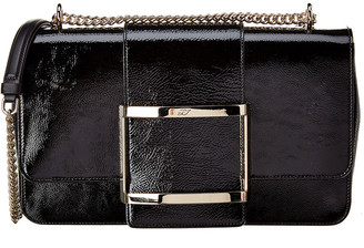 Roger Vivier Tres Vivier Medium Patent Leather Crossbody
