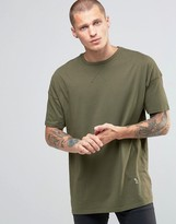 Religion Crew Neck T-Shirt With Oversized Drop Shoulder Detail