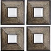 Safavieh Fendrel Set of 4 Beveled Square Wall Mirrors