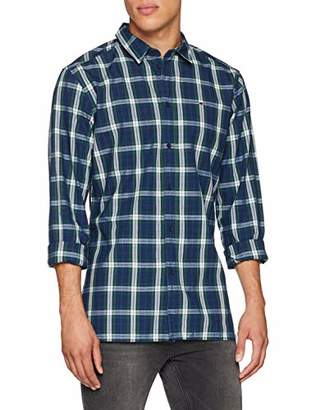 Tommy Jeans Men's Indigo Check Classic Shirt,Small
