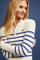 Scotch & Soda Striped Half-Zip Pullover
