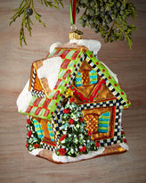 Mackenzie Childs MacKenzie-Childs Gingerbread House Christmas Ornament