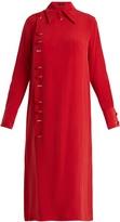 Joseph Elvi asymmetric-button silk shirtdress