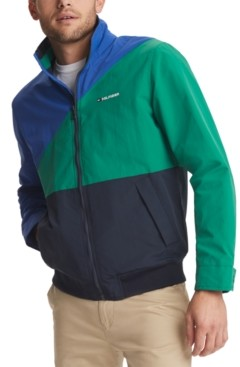 Tommy Hilfiger Men's Tate Colorblocked Yacht Jacket with Zip-Out Hood