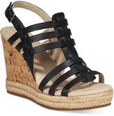 White Mountain Veronique Platform Wedge Sandals Women's Shoes
