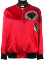 Saint Laurent Sequin Diamond Bomber Jacket