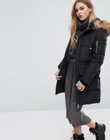 Pull&Bear Longline Padded Jacket