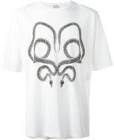 Saint Laurent snake print T-shirt - men - Cotton - S