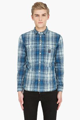 Diesel blue plaid Schippy Shirt