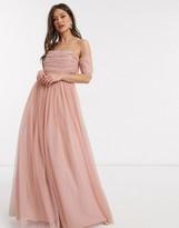 Asos Design DESIGN tulle scatter sequin maxi dress