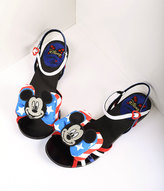 Irregular Choice Red, White & Blue Mickey Mouse Oh Toodles Sandals
