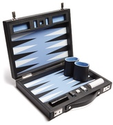 Smythson Grosvenor Leather Travel Backgammon Set