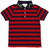 Gucci Embroidered Stretch Cotton Polo Shirt