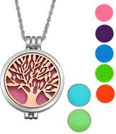 SG Alloy Essential Oils Aromatherapy Diffuser Necklace Tree of Life Locket Pendant