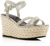Alice + Olivia Rachel Snake-Embossed Wedge Sandals