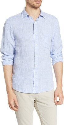 Faherty Laguna Linen Button-Up Shirt
