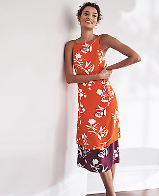 Ann Taylor Mixed Floral Flare Dress