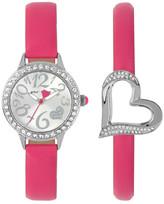 Betsey Johnson Women&s Open Heart Crystal Fashion Watch
