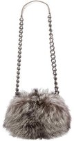 Thomas Wylde Fox Fur Shoulder Chain Bag