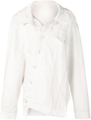 Monse Oversized Twisted Denim Jacket