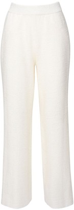 Agnona High Waist Knitted Linen Blend Pants